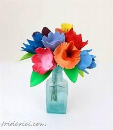 Blumen Aus Eierkarton Basteln Dekoking Eierkarton