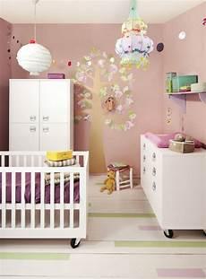 wandgestaltung babyzimmer mädchen wandgestaltung kinderzimmer m 228 dchen zartrosa deko baum