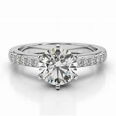 moissanite diamond solitaire wedding ring engagement bridal white gold designer