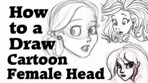 How To Draw A Cartoon Female Head  HildurKO Art Blog