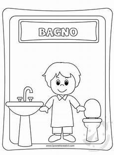 disegno bagno cartello bagno bambini