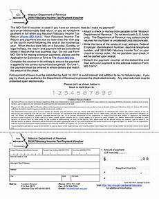 form mo 1041v 2016 fiduciary income tax payment voucher