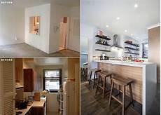 cuisine ouverte sans bar r 233 novation cuisine et salle de bains photos avant apr 232 s