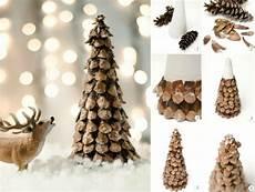 Basteln Tannenzapfen Advent Mini Tannenbaum Samen