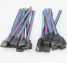 bulk 4 rgb connectors wire cable for 3528 5050
