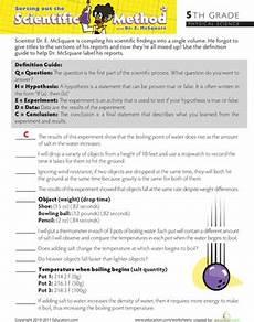 scientific method steps worksheet education com