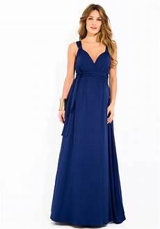 robe de soir 233 e grossesse bleu profond longue d 233 collet 233
