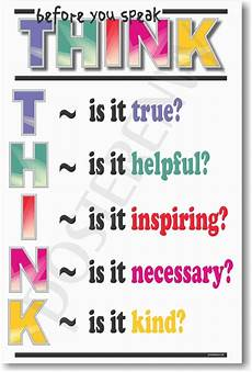 think before you speak new school classroom student