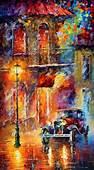 Old Car  Oil Painting By Leonid Afremov Leonidafremov
