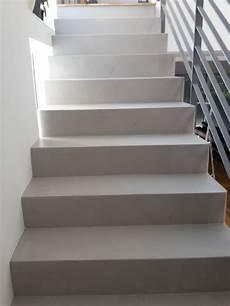 treppe mit beton cire beschichtet www farbe kunst putz