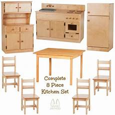 handmade kitchen furniture complete kitchen play set 8pc birch amish