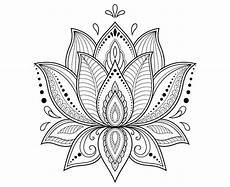 Mandala Blumen - lotus flower lotus mandala zentangle etsy