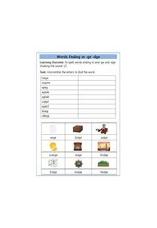 spelling worksheets dge and ge 22357 ge dge word endings free worksheet teaching resources