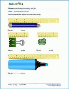 measurement worksheets grade 5 1348 grade 1 measurement worksheets measuring lengths in inches k5 learning