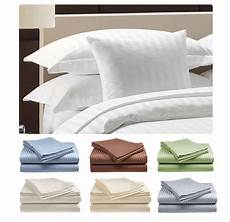 deluxe hotel 300 thread count 100 cotton sateen sheet dobby stripe ebay