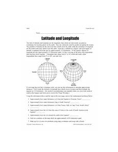 locating places worksheet with answers 15952 latitude and longitude geography printable 5th 8th grade 6th grade social studies