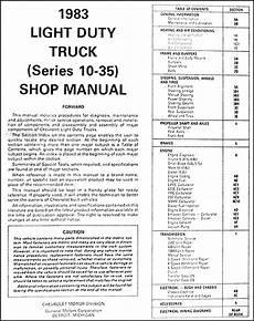 1983 chevy wiring harness 1983 chevrolet truck repair shop manual original blazer suburban fc