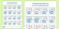 comparing volume worksheet worksheet pack comparing