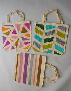 geometric painted tote bags pictures photos and images
