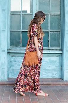 boho chic boho chic maxi dress tutorial allfreesewing