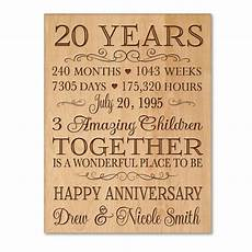 Special Gift For Wedding Anniversary personalized 20th anniversary gift for him 20 year wedding