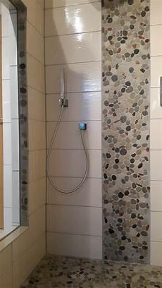 Mosaik In Der Dusche - dusche mit bodenablauf flusssteinmosaik fliesenonkel