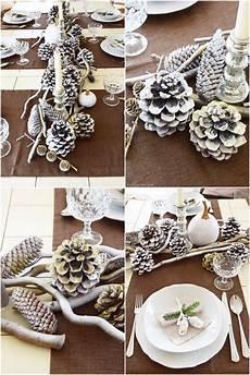 winterlich festliche tischdeko mit naturmaterialien mrs