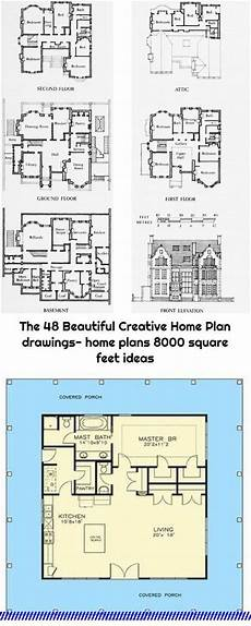 8000 sq ft house plans the 48 beautiful creative home plan drawings home plans