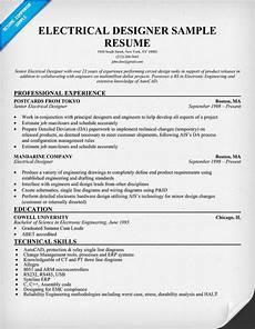 electrical designer resume sle resumecompanion com