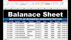 91 how to make balance sheet in excel hindi youtube