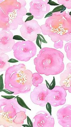 girly iphone wallpaper floral pink floral watercolor phone background works for iphone