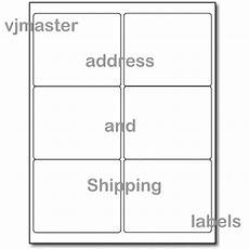 600 address and shipping labels 6 labels per sheet 4 x3 33