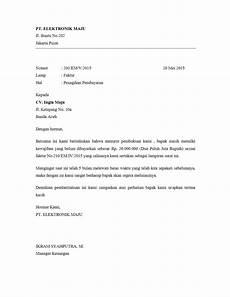 contoh surat penagihan pembayaran barang assalam print