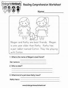 worksheets for preschool reading reading comprehension worksheet free kindergarten english worksheet for kids