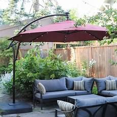hton bay 11 ft led offset solar umbrella review cantilever patio umbrella offset umbrella
