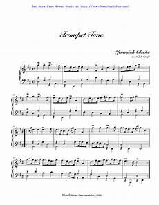 free sheet music for trumpet tune clarke jeremiah by jeremiah clarke