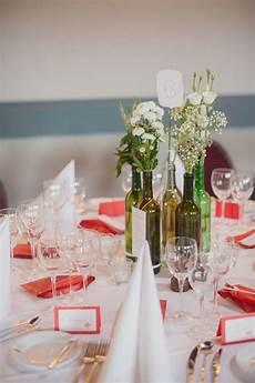 Flaschen Vasen Hochzeit Weinflaschen Weinflasche Blumen