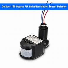 Degree Human Infrared Sensor Switch Light by Outdoor 180 Degree Pir Induction Motion Sensor Detector