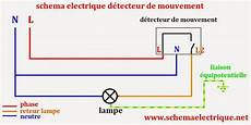 projecteur exterieur avec detecteur de mouvement branchement schema electrique branchement cablage