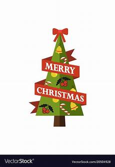 merry christmas pine tree royalty free vector image