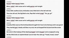 Robin Malvorlagen Lyrics Rockin Robin Lyric