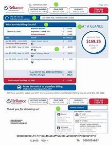 understanding your reliance bill reliance h