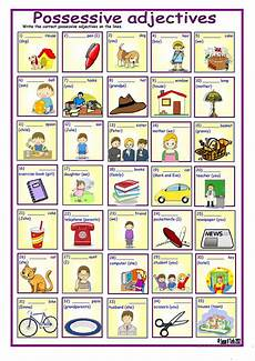 possessive adjectives with key worksheet free esl printable worksheets made by teachers