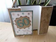 Geburtstagskarte 60 Basteln - karten biggis bastelwelt seite 2