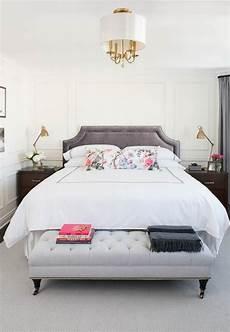 Bedroom Ideas Grey Headboard by Gray Velvet Headboard With Light Gray Tufted Bench