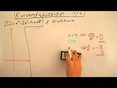 extremstellen berechnen kurvendiskussion 1 4