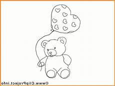 Malvorlagen Teddy Mit Herz Malvorlage Teddy Mit Luftballon Hertz Zum Ausdrucken