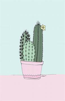 aesthetic cactus iphone wallpaper cactus illustrations by irene cabrera lorenzo there s
