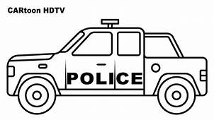 Colors With Street Vehicles Police Truck Coloring