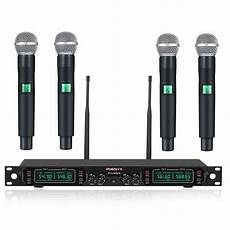 cordless microphone system wireless microphone system phenyx pro 4 channel uhf cordless mic set with four handheld mics